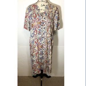 Philosophy Floral Vine Pleated Maxi Dress
